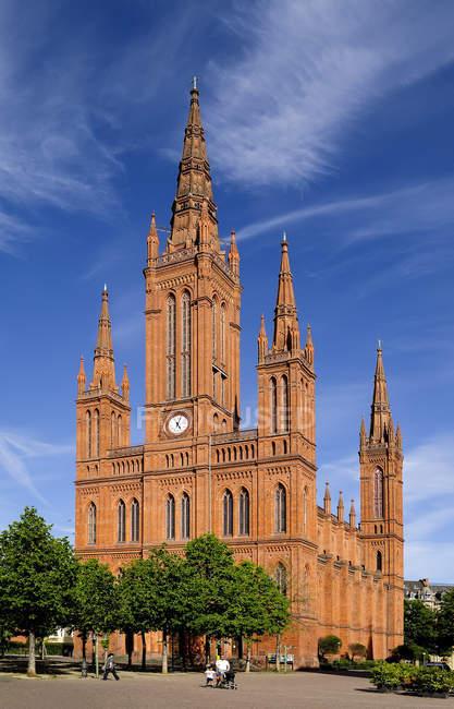 Église de marché de Hesse, à Wiesbaden, en Allemagne, — Photo de stock