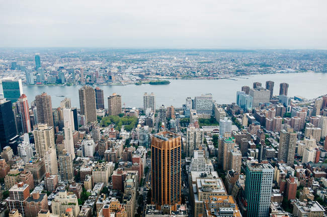 USA, New York City, Manhattan, aerial cityscape view — Stock Photo
