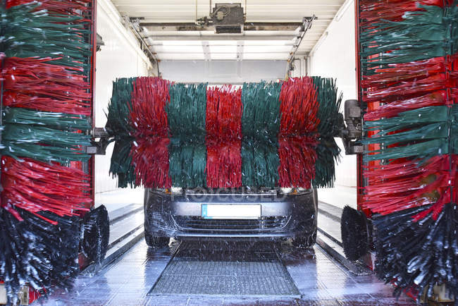 View of Car in a car wash inside — Stock Photo