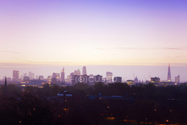 UK, London, skyline in morning light — Stock Photo