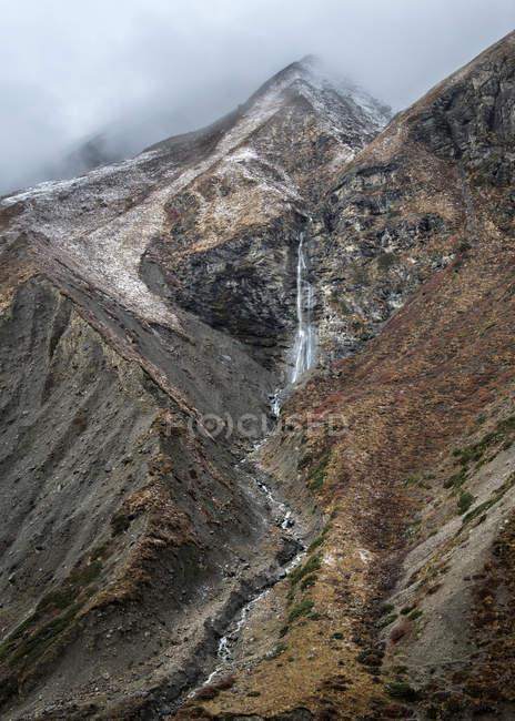 Cascade de Manang en Himalaya — Photo de stock