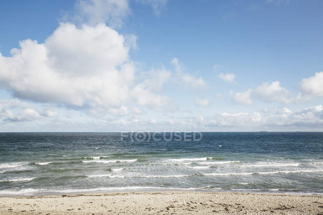 Allemagne, Mecklembourg-Poméranie occidentale, Warnemuende, Mer Baltique, plage — Photo de stock