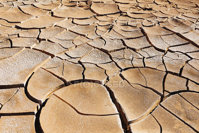 Amérique du Sud, Chili, Terre fissurée sèche dans le désert d'Atacama — Photo de stock