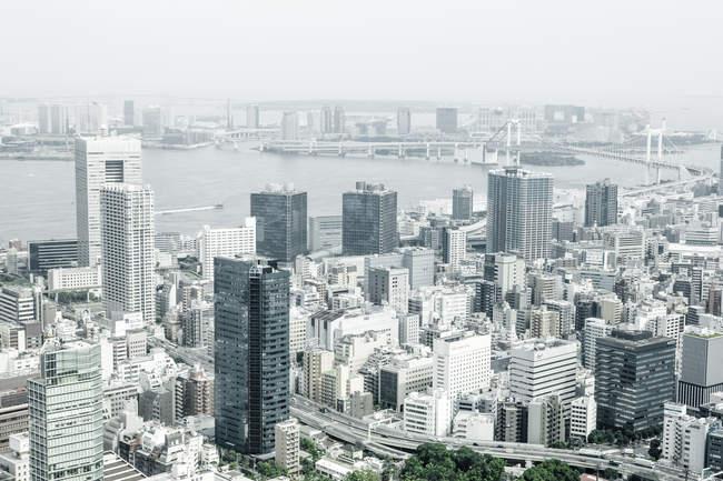 Vue du Japon, Tokyo, à la ville pendant la journée — Photo de stock