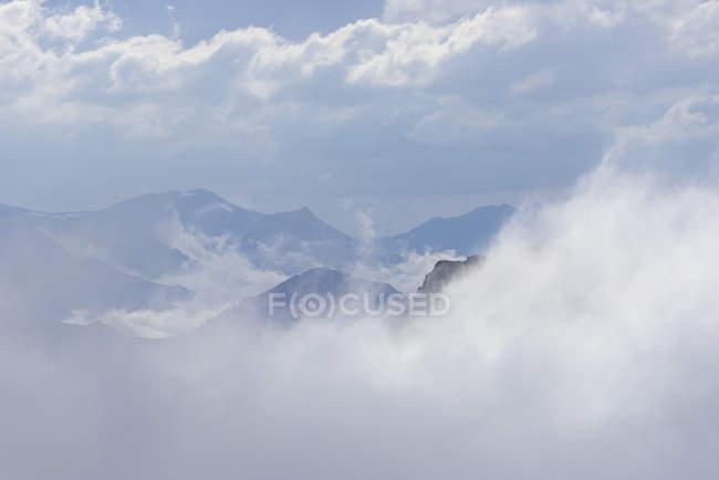 Espagne, couvertes de nuages Pico tres mares sous les nuages — Photo de stock