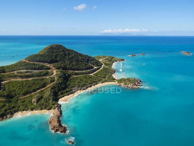 Westindische Inseln, Antigua und Barbuda, Antigua, Luftaufnahme, Yepton Strand — Stockfoto
