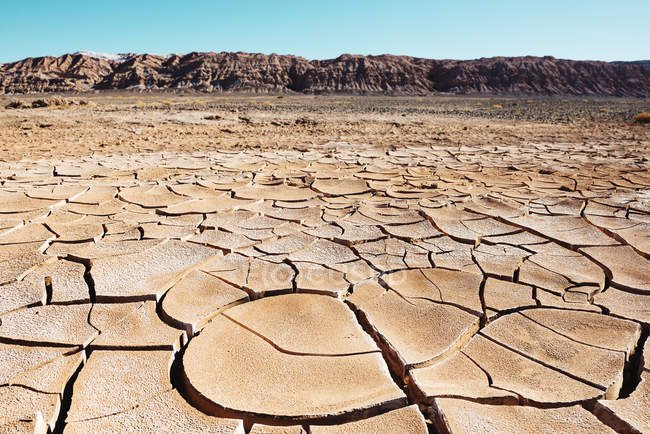 South America, Chile, Dry cracked earth in the Atacama desert — Stock Photo