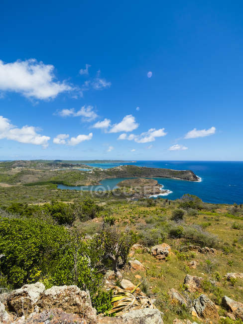 Antigua, West Indies, Küste am Indian Creek Point — Stockfoto