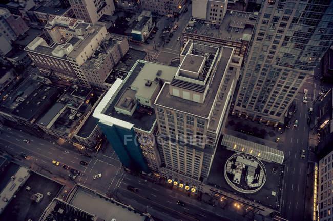 Canada, Vancouver, paysage urbain vu du Harbour Centre — Photo de stock