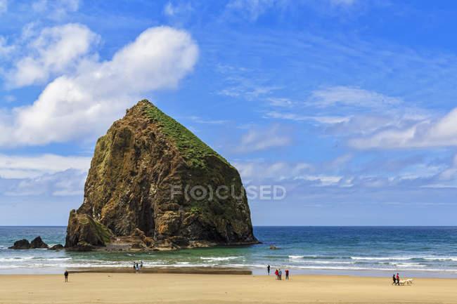 USA, Oregon, Oregon State Park, Cannon Beach, Haystack Rock — Stock Photo