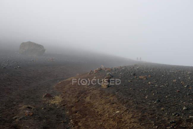 США, Гаваї, Мауї, Халеакала, туман в вулканічний кратер — стокове фото