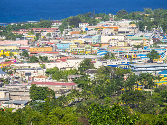 Caribbean, Jamaica, View of Ocho Rios during daytime — Stock Photo