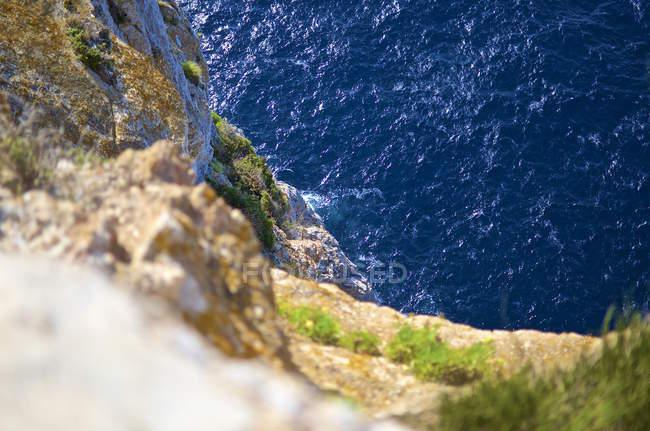 Spagna, Maiorca, Cap Formentor, vista verso il mare dall'alto — Foto stock