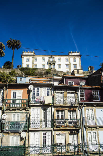 Typical houses facades — Stock Photo