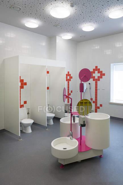 Estonia, sanitary area of a newly built kindergarten — Stock Photo