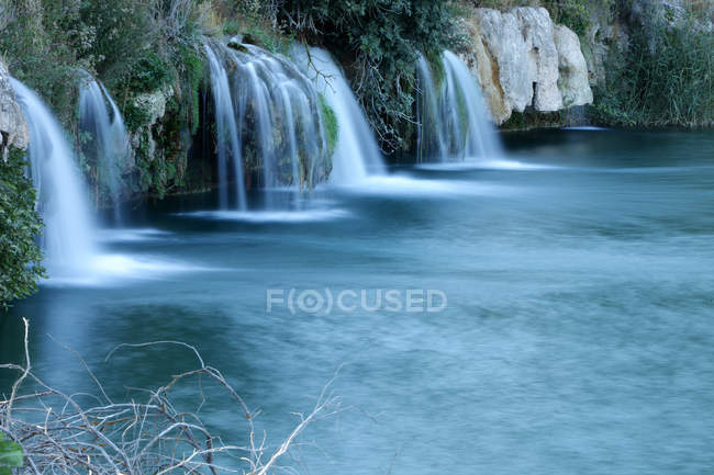 Spain, Albacete, Lagunas de Ruidera, Waterfalls of Guadiana river — Stock Photo