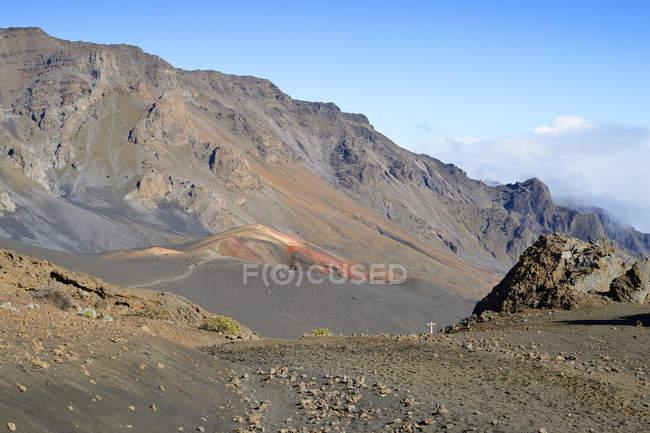 США, Гаваї, Мауї, Халеакала, вулканічну з шлаку — стокове фото