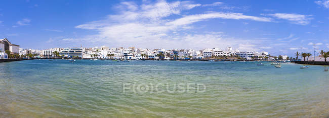 Spain, Canary Islands, Lanzarote, Arrecife, view to Charco de San Gines — Stock Photo