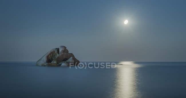 Spiaggia Di Cea Tortoli Sardegna Italia Roccia Nel Mare