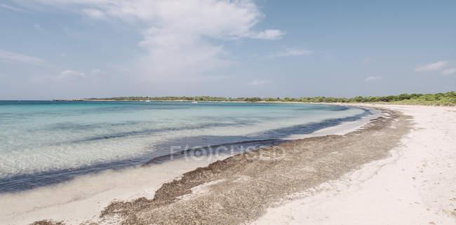 Spain, Balearic Islands, Menorca, panoramic view of Son Saura beach during daytime — Stock Photo