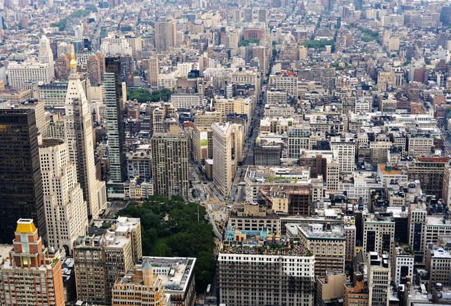 Estados Unidos, Nova York, Manhattan, vista aérea do Empire State Building — Fotografia de Stock