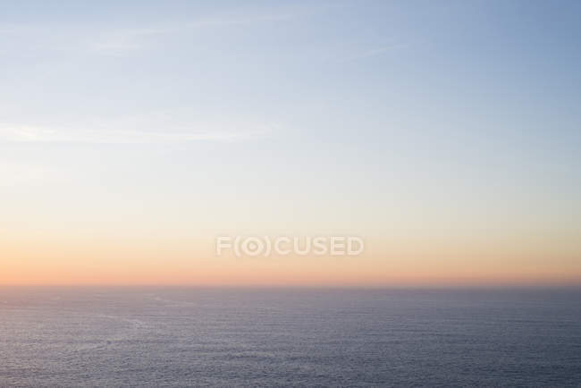 Spain, Galicia, Ferrol, sky and sea at the sunset — Stock Photo