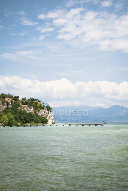Ladsacpe with Lake Garda in spring — Stock Photo
