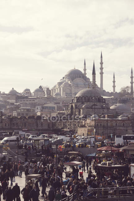 Turchia, Istanbul, Eminoenue, Mostra alla Moschea di Rustem Pasha — Foto stock