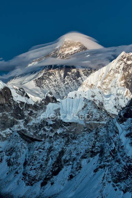 Непал, Кхумбу, Эверест регион, гора Эверест из Гокио Ри пик — стоковое фото