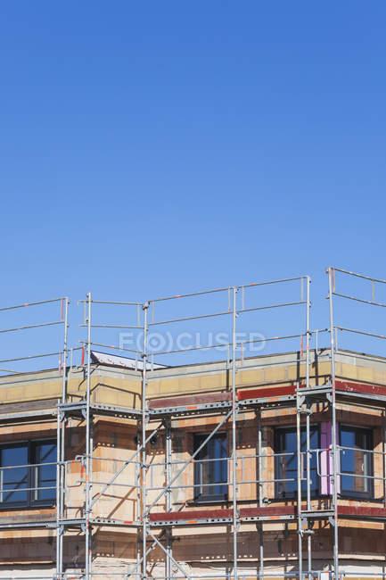 Germany, Cologne Widdersdorf, bare brickwork of residential house — Stock Photo