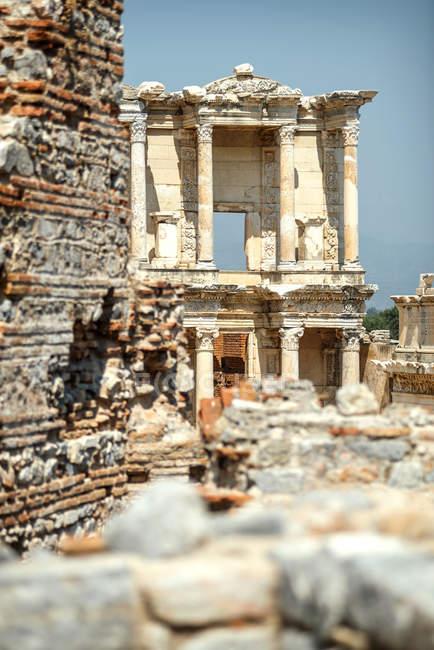 Turquie, Ephèse, bibliothèque de Celsus — Photo de stock