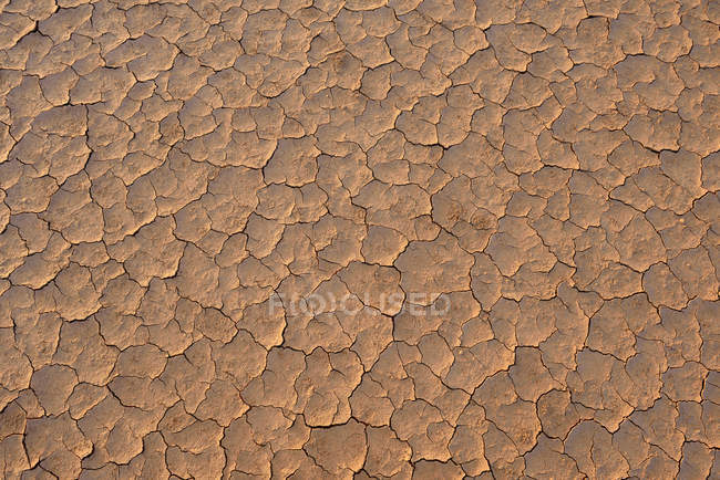 Algeria, Tassili n' Ajjer, Sahara, broken surface of a salt and clay pan — Stock Photo