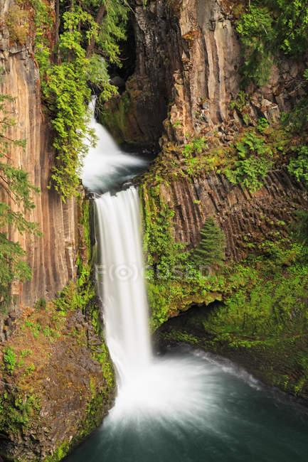 Estados Unidos, Condado de Douglas, Oregón, Cascada en el río Umpqua - foto de stock