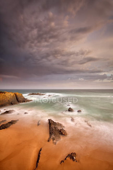 View of rocks at sea coast at Alentejo, Portugal — Stock Photo