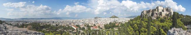 Greece, Athens, Panorama with Parthenon — Stock Photo