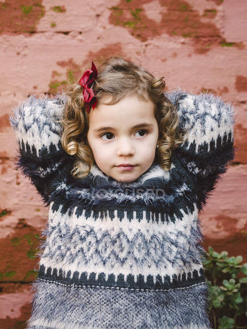 Portrait of girl with curly hair — Stock Photo