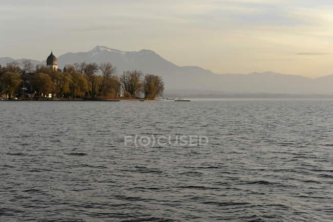 Germany, Bavaria, Upper Bavaria, Chiemsee, Hochgern mountain, Island Frauenchiemsee — Stock Photo