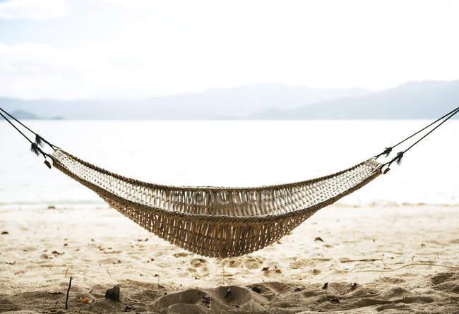 Philippines, Palawan, hammock on a beach near El Nido — Stock Photo