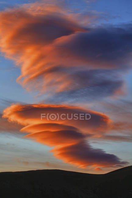 Spain, Ordesa National Park, cloud formation at sunset — Stock Photo