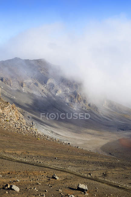 США, Гаваї, Мауї, Халеакала всередині вулканічний кратер — стокове фото