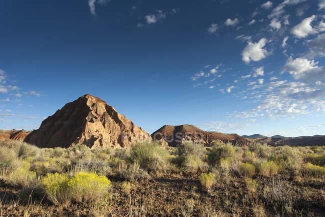 Vista panorâmica da paisagem no Cathedral Gorge State Park durante o dia, Nevada, EUA — Fotografia de Stock
