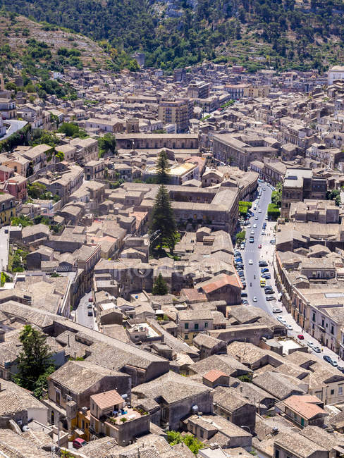 Italy, Sicily, Modica, view to the city from above — Stock Photo