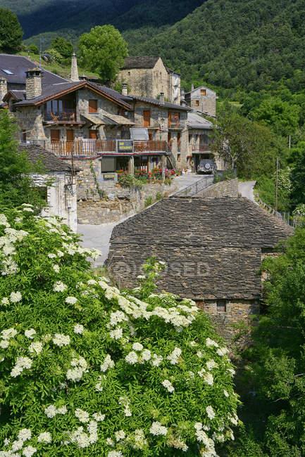 Испания, Провинция Уэска, горная деревня Буэса — стоковое фото