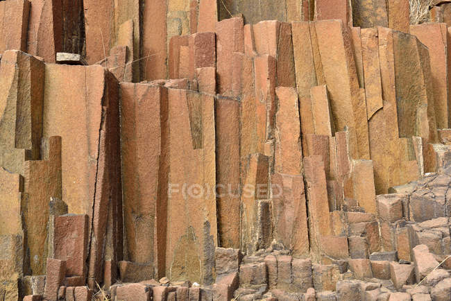 Africa, Namibia, Kunene Province, Damaraland, basalt rock formation at Twyfelfontein, organ pipes — Stock Photo