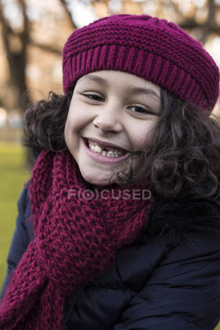 a028b91a2b23 Little girl with tooth gap — Stock Photo