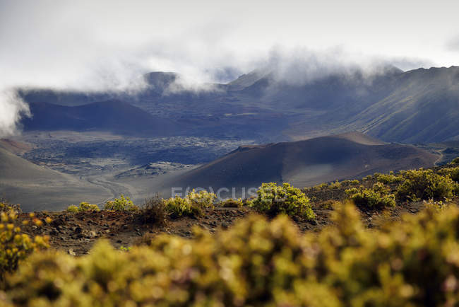 USA, Hawaii, Maui, Haleakala, volcanic landscape with cinder cones — Stock Photo