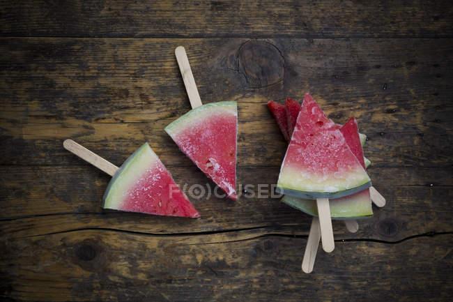 Закрыть из пяти арбуз фруктовое мороженое — стоковое фото