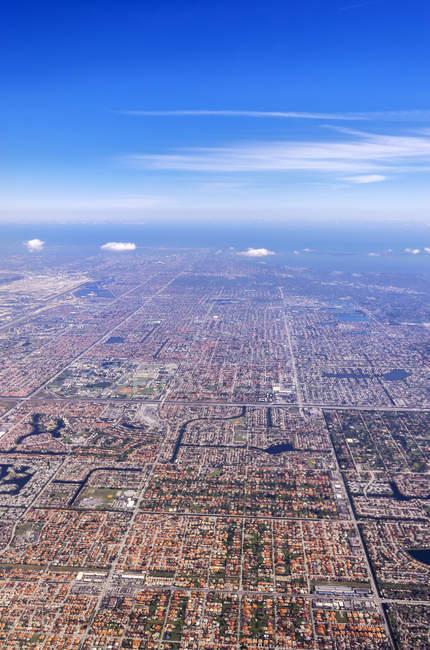 Vista aerea USA, Florida, Miami — Foto stock