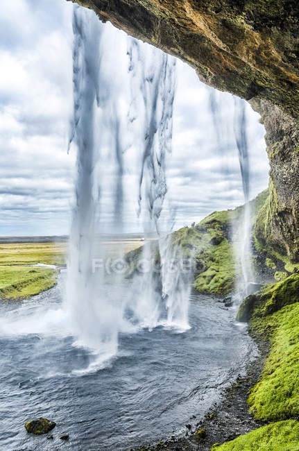 Seljalandsfoss visão queda — Fotografia de Stock