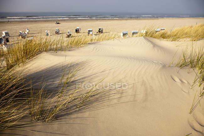 Німеччина, Нижня Саксонія, Схід фризькі острова, Spiekeroog, дюн та пляжу — стокове фото